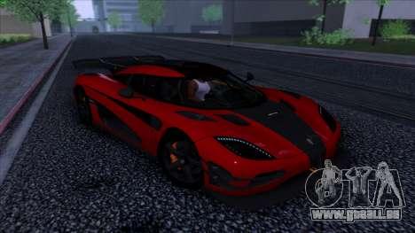 Koenigsegg One:1 2014 pour GTA San Andreas vue arrière