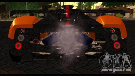 Pagani Zonda Cinque Roadster pour GTA San Andreas vue arrière