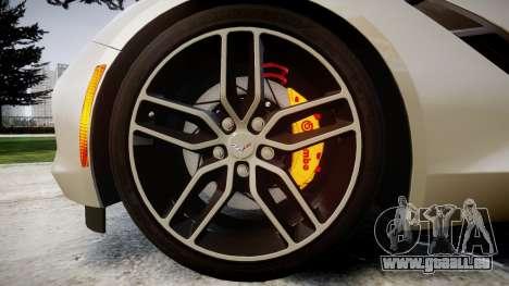 Chevrolet Corvette C7 2014 Tuning pour GTA 4 Vue arrière