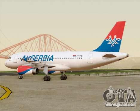 Airbus A319-100 Air Serbia für GTA San Andreas Seitenansicht