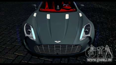 Aston Martin One-77 Red and Black pour GTA San Andreas vue de droite