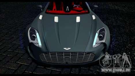 Aston Martin One-77 Red and Black pour GTA San Andreas vue de droite