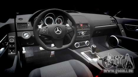 Mercedes-Benz C63 AMG 2010 für GTA 4 Innenansicht