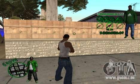 C-HUD Groove pour GTA San Andreas troisième écran