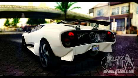GTA 5 Pegassi Infernus für GTA San Andreas linke Ansicht