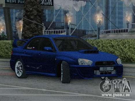 Subaru impreza WRX STI 2004 pour GTA San Andreas vue de droite