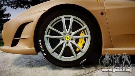 Ferrari F430 Scuderia 2007 plate F430 pour GTA 4 Vue arrière