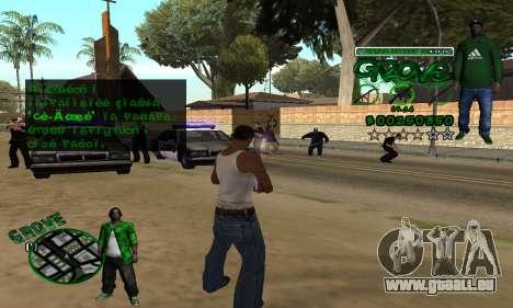 C-HUD Groove pour GTA San Andreas quatrième écran