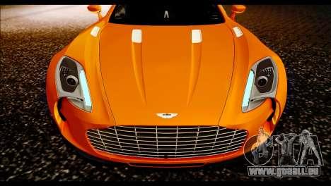 Aston Martin One-77 Black für GTA San Andreas rechten Ansicht