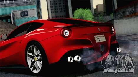Ferrari F12 Berlinetta 2013 pour GTA San Andreas sur la vue arrière gauche