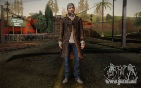 Aiden Pearce from Watch Dogs v11 für GTA San Andreas