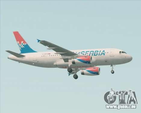 Airbus A319-100 Air Serbia für GTA San Andreas rechten Ansicht