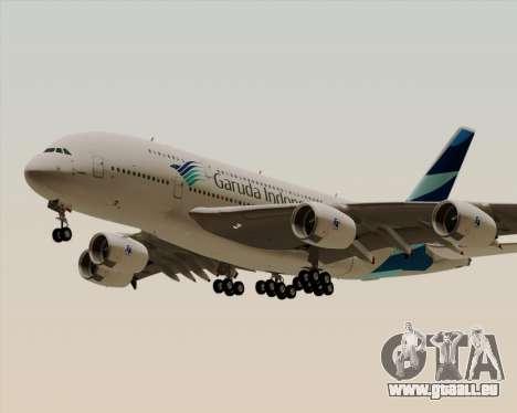 Airbus A380-800 Garuda Indonesia pour GTA San Andreas vue intérieure