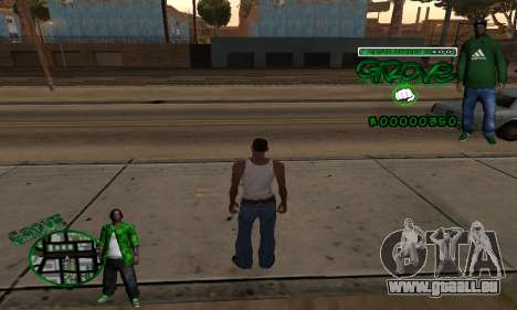 C-HUD Groove pour GTA San Andreas