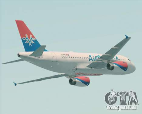 Airbus A319-100 Air Serbia für GTA San Andreas Rückansicht