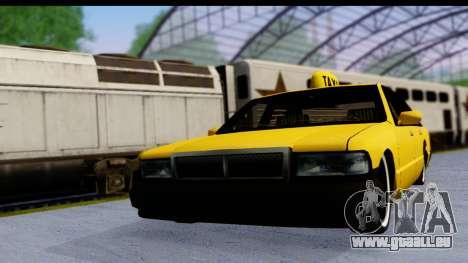 Slammed Taxi pour GTA San Andreas sur la vue arrière gauche