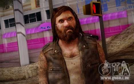 Francis from Left 4 Dead Beta pour GTA San Andreas troisième écran