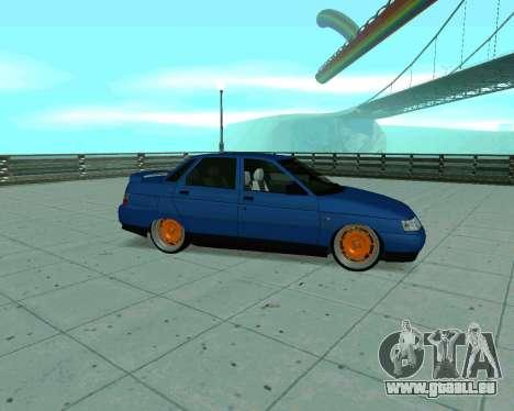 VAZ 2110 Taxi pour GTA San Andreas sur la vue arrière gauche