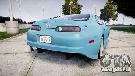 Toyota Supra 1998 pour GTA 4 Vue arrière de la gauche