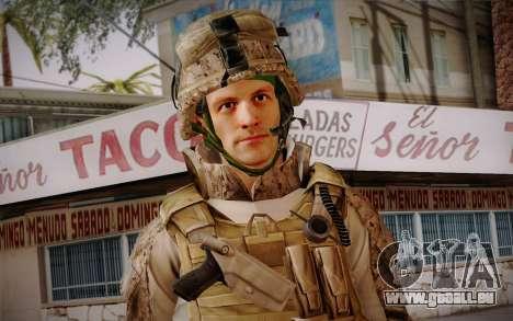 Blackburn from Battlefield 3 pour GTA San Andreas troisième écran
