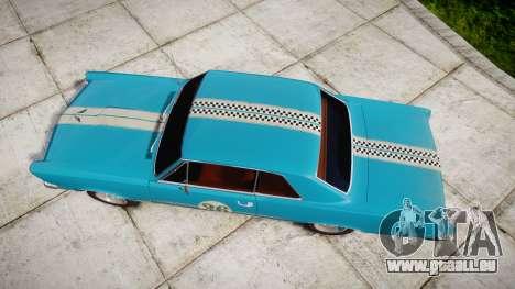 Pontiac GTO 1965 victory cars für GTA 4 rechte Ansicht