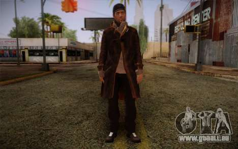 Aiden Pearce from Watch Dogs v10 pour GTA San Andreas