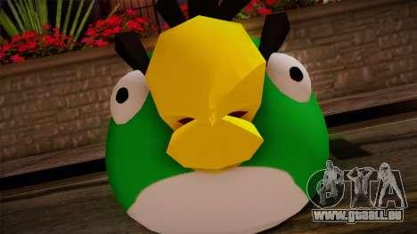 Green Bird from Angry Birds pour GTA San Andreas troisième écran