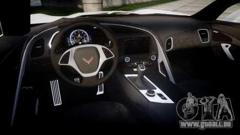 Chevrolet Corvette Stingray C7 2014 Sharpie für GTA 4 Innenansicht