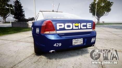 Chevrolet Caprice 2012 LCPD [ELS] v1.1 pour GTA 4 Vue arrière de la gauche