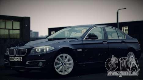 BMW 535i F10 für GTA San Andreas obere Ansicht