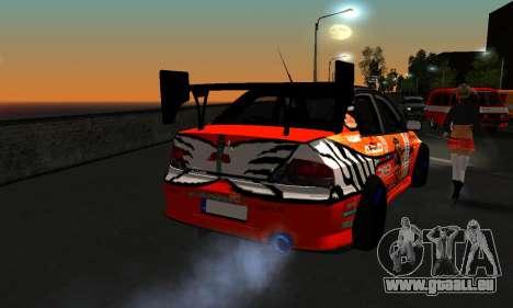 Mitsubishi Lancer Evo 9 Kumakubo Team Orange pour GTA San Andreas vue arrière