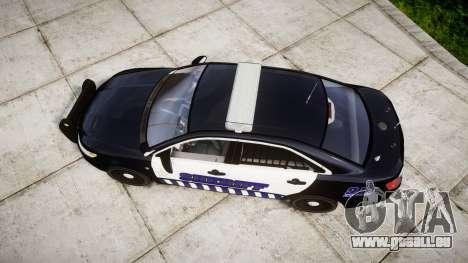 Ford Taurus 2014 Sheriff [ELS] für GTA 4 rechte Ansicht