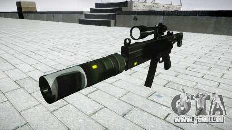 Tactique pistolet mitrailleur MP5 cible pour GTA 4