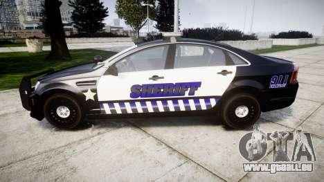 Chevrolet Caprice 2012 Sheriff [ELS] v1.1 pour GTA 4 est une gauche