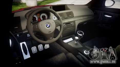 BMW 1M 2011 Sharpie pour GTA 4 est une vue de l'intérieur