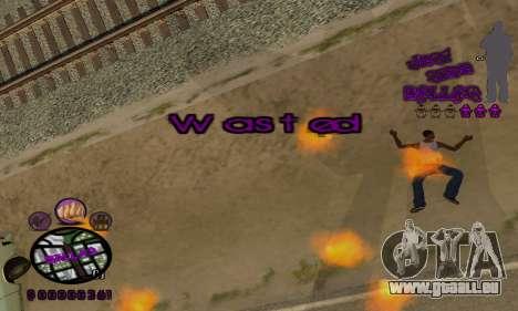 C-HUD Ballas pour GTA San Andreas cinquième écran
