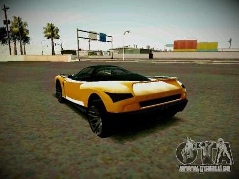 Le guépard из GTA 5 pour GTA San Andreas laissé vue