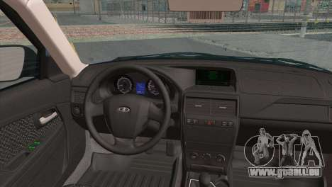Lada Priora 2 pour GTA San Andreas sur la vue arrière gauche