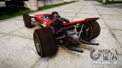 Lotus Type 49 1967 [RIV] PJ9-10 pour GTA 4 Vue arrière de la gauche