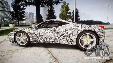 Ferrari 458 Italia 2010 v3.0 Sharpie für GTA 4 linke Ansicht