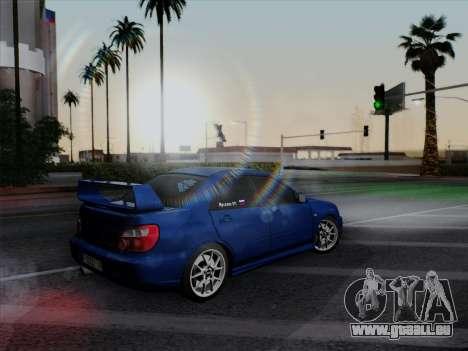 Subaru impreza WRX STI 2004 pour GTA San Andreas vue arrière