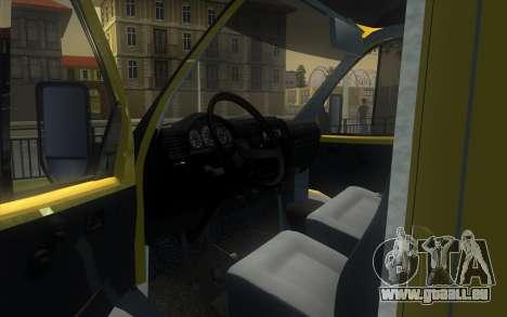 GAZelle 2705 Sammlung Von Alfa Bank für GTA San Andreas rechten Ansicht