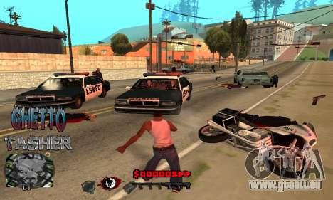 C-HUD Ghetto Tawer pour GTA San Andreas troisième écran