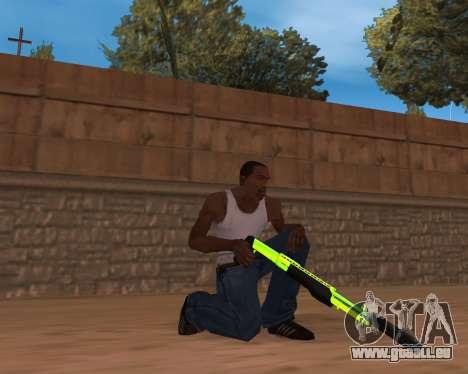Chrome Green Weapon Pack für GTA San Andreas zweiten Screenshot