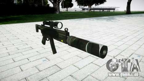 Tactique pistolet mitrailleur MP5 pour GTA 4