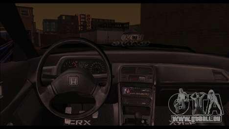 Honda CRX für GTA San Andreas zurück linke Ansicht
