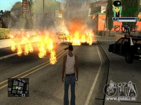C-HUD Grove Street Gang pour GTA San Andreas troisième écran