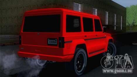GTA 5 Benefactor Dubsta pour GTA San Andreas laissé vue