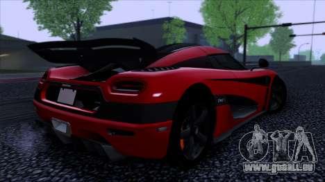 Koenigsegg One:1 2014 pour GTA San Andreas laissé vue