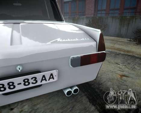Moskvitch 412 pour GTA 4 est une vue de l'intérieur